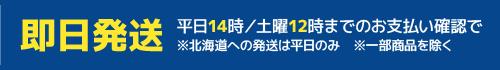 即日発送(平日14時、土曜12時までにお支払い確認のできたもの/北海道は平日のみ/一部商品を除く)